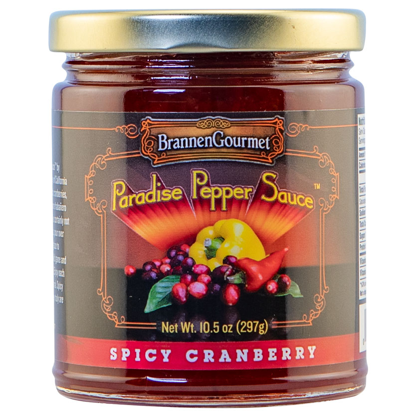 Brannen Gourmet Spicy Cranberry Paradise Pepper Sauce  product image