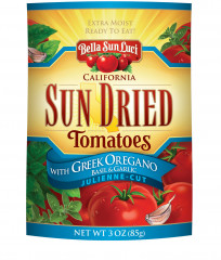 Sun Dried Tomatoes with Greek Oregano, Basil & Garlic: Julienne-Cut (Resealable Pouch)