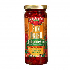 Julienne Cut Sun Dried Tomatoes in Olive Oil with Italian Herbs - 8.5 oz