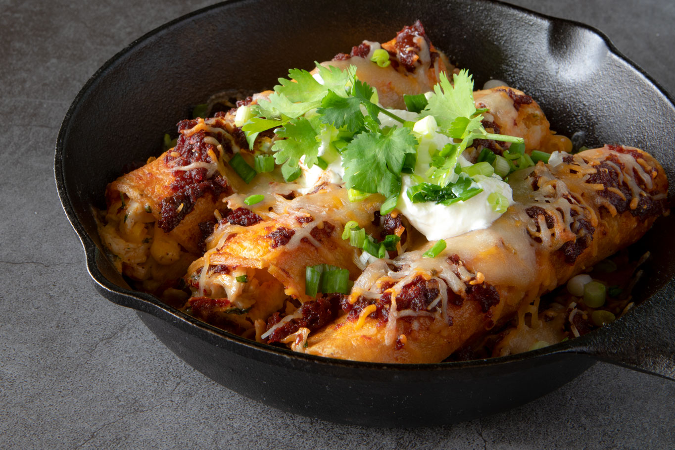 Chipotle Chicken and Corn Enchiladas