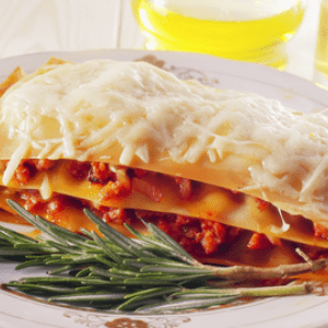 Hand Layered Lasagna with Roasted Bell Peppers and Sun-Dried Tomatoes
