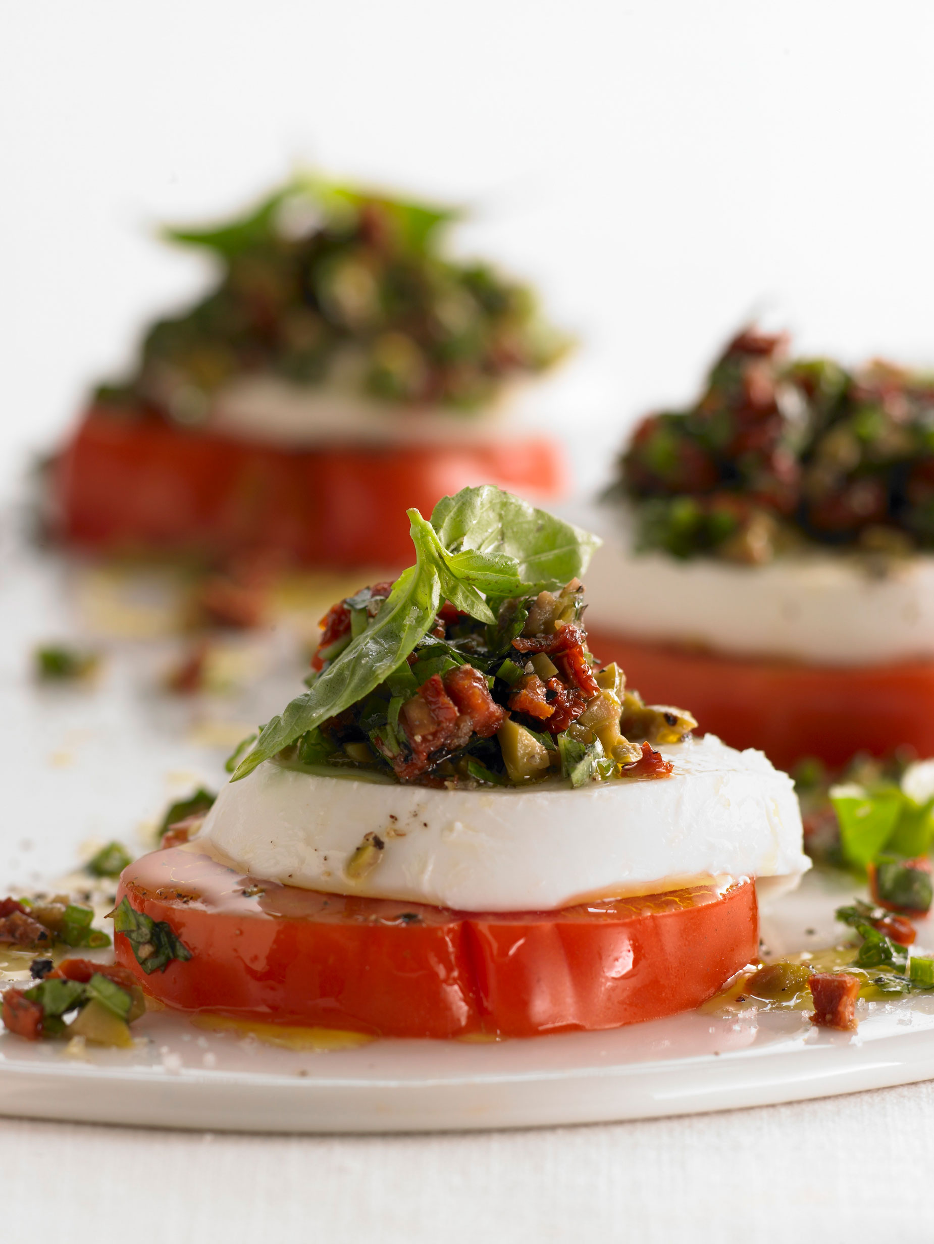 Insalata Caprese with Sun Dried Tomato Tapenade