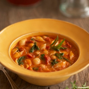 Italian Garbanzo Bean Sun Dried Tomato Soup
