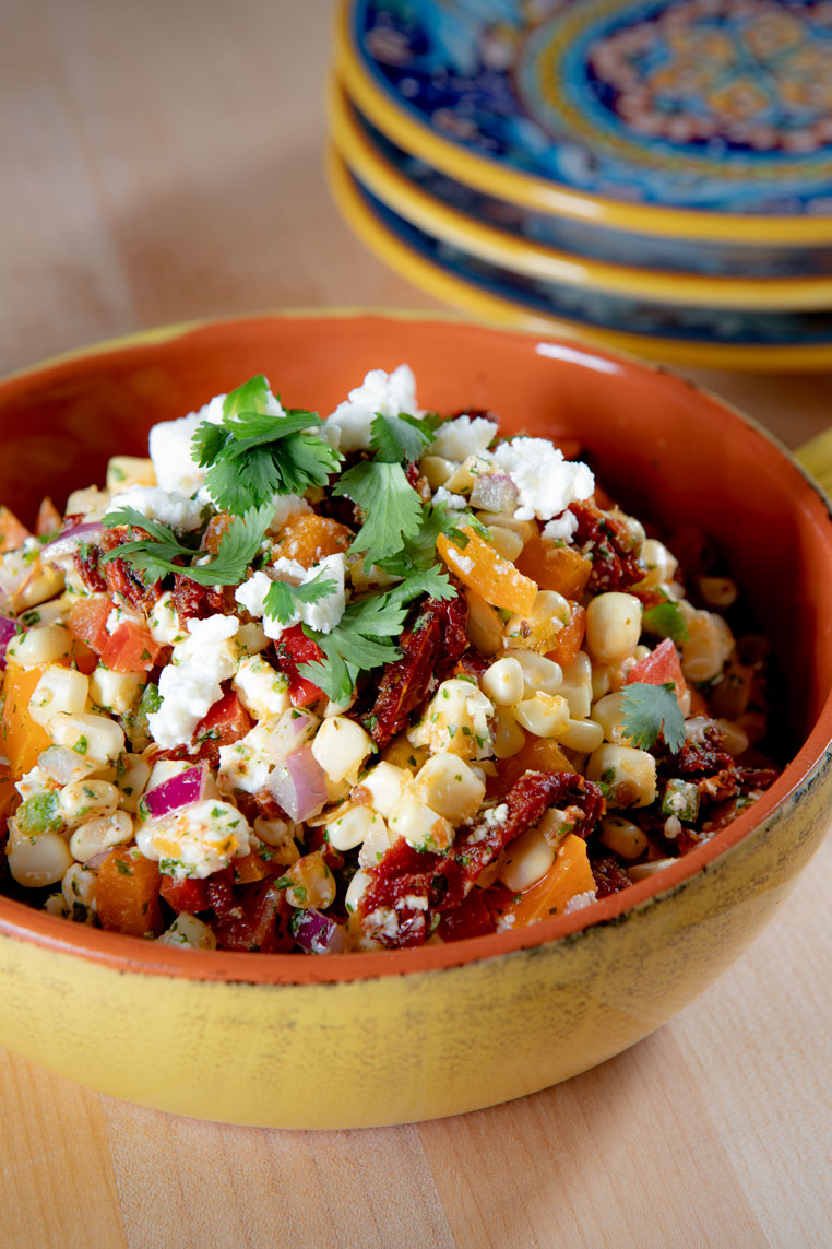 Sun Dried Tomato Summer Corn Salad