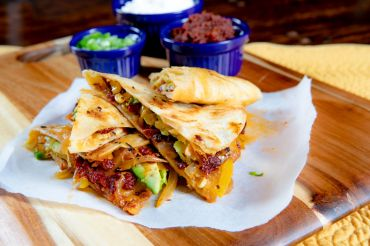 Sun Dried Tomato Chipotle Chicken Quesadilla