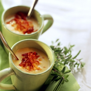 Cream of Butternut Squash Soup with Sun Dried Tomatoes