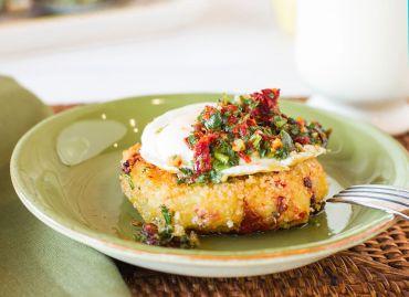 Mediterranean Potato Pancetta Cakes