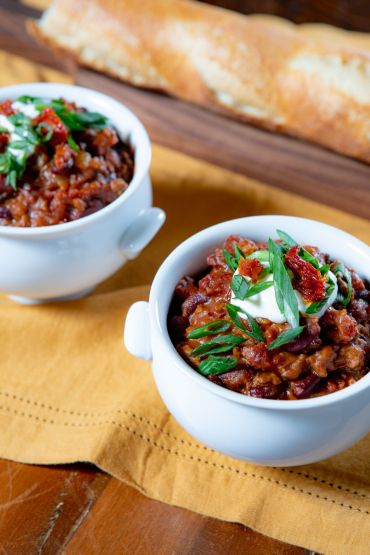 Beef, Pumpkin, and Sun Dried Tomato Chili