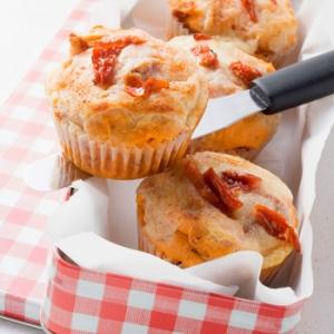 Savory Sun Dried Tomato Corn Muffins