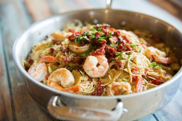 Sun Dried Tomato and Shrimp Pasta with Artichokes & Mushrooms - Winning Recipe 2012!