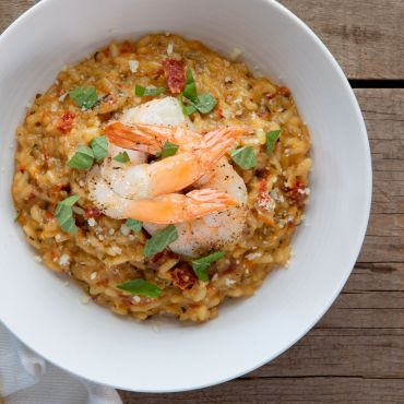 Sun Dried Tomato Shrimp Risotto
