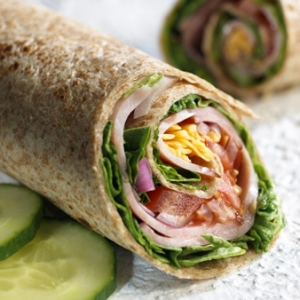 Smoked Turkey and Sun Dried Tomato Wrap