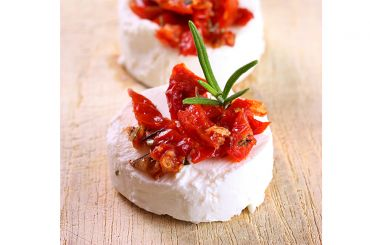 Goat Cheese Medallions with Sun Dried Tomatoes