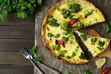 Broccoli and Sun Dried Tomato Quiche