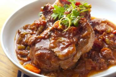 Osso Buco of Beef with Sun Dried Tomatoes