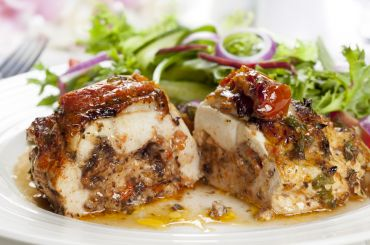 Mushroom and Tomato Stuffed Chicken