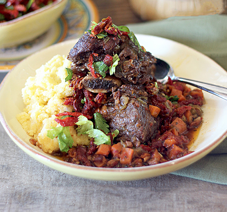 Slow Braised Short Ribs with Bella Sun Luci Sun Dried Tomato Gremolata! - 2nd Place Winner 2015 Recipe Contest