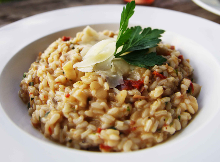 Sun Dried Tomato and Wild Mushroom Risotto
